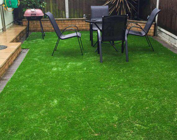 new artificial lawn in E10 area