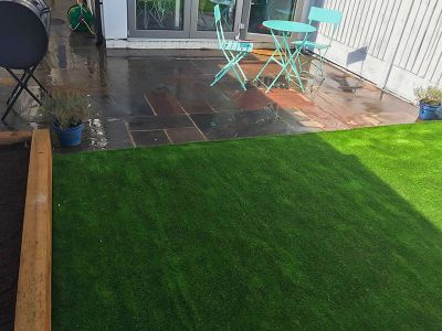 jet washed patio area