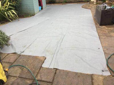 anti weed membrane installation