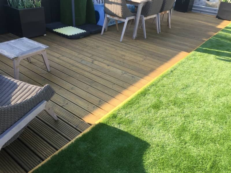 astroturf and deck in HA4