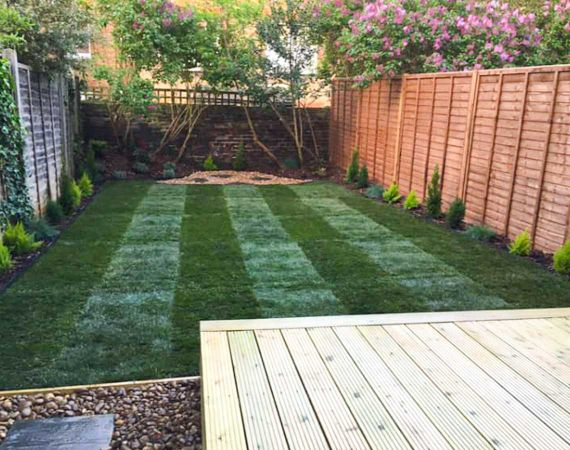 garden landscaping in Hampstead, London - after