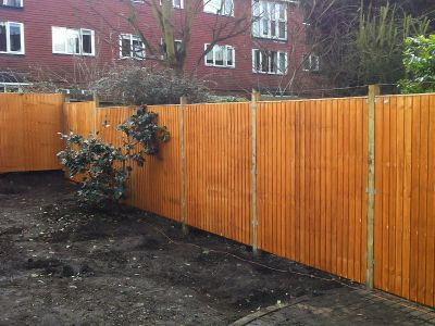the new fence installed in Croydon