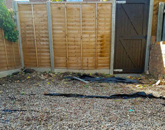 repaired gate - after service