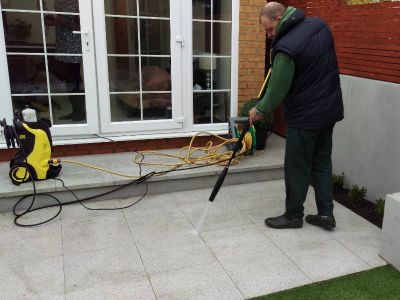 jet washing patio in fulham SW6