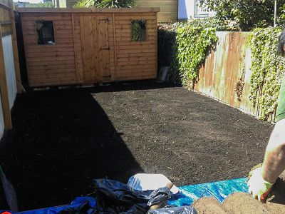 soil preparation for turfing