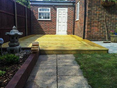 the finished decking