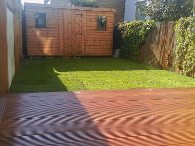 final results of lawn installation project