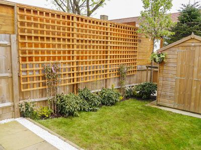 planting and trellis installation after