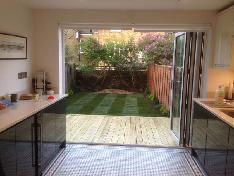 new decking and turf