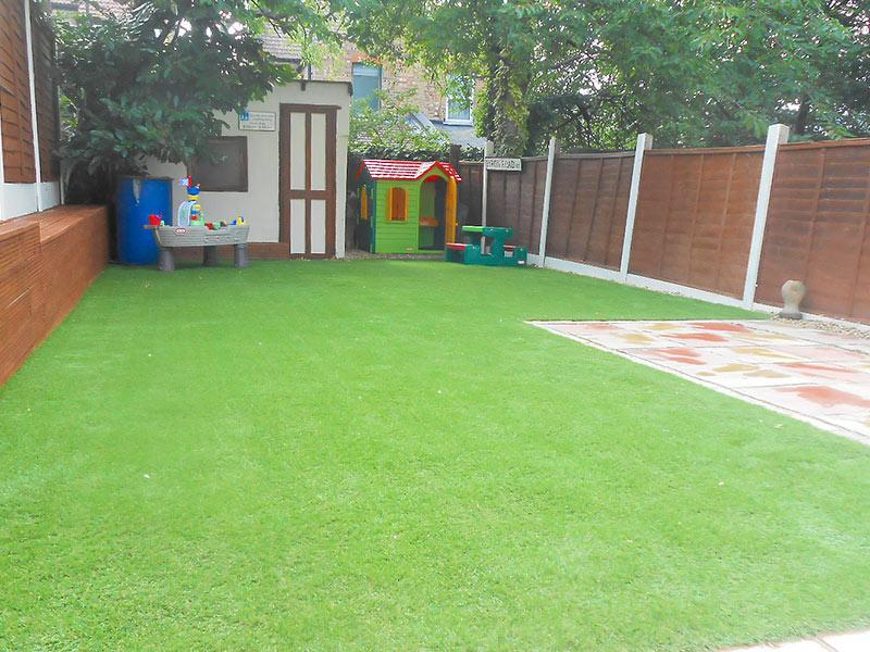 artificial turf installation after