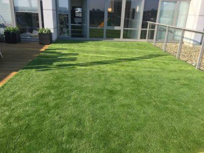 new turf on HA4 terrace