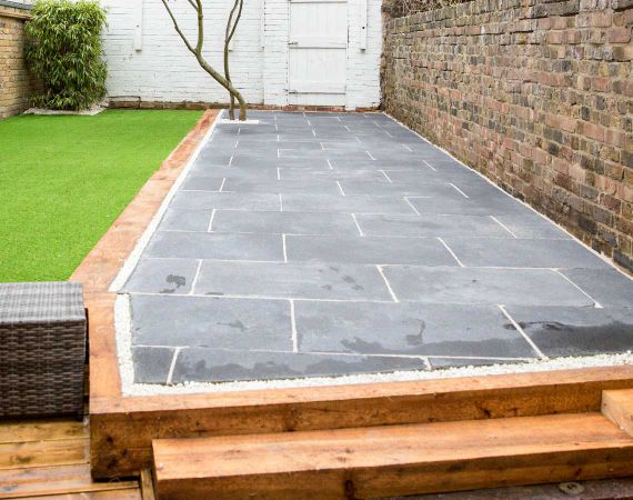 paving and artificial grass installation results