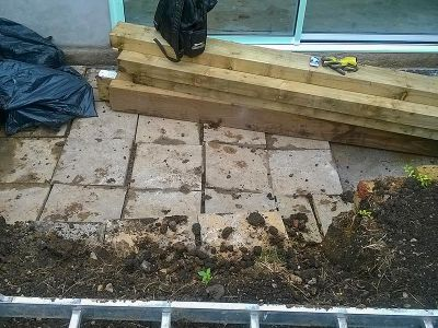 the old paving slabs