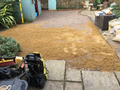 silica sand in garden